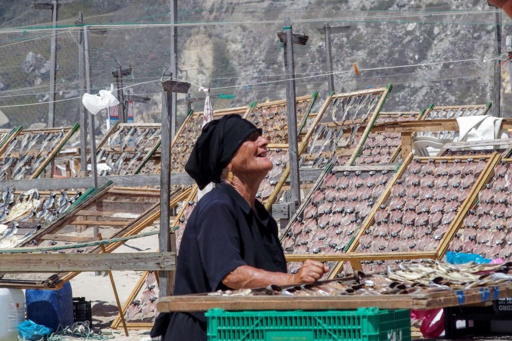ポルトガル|ナザレ|アジの干物|鯵|ミニスカート