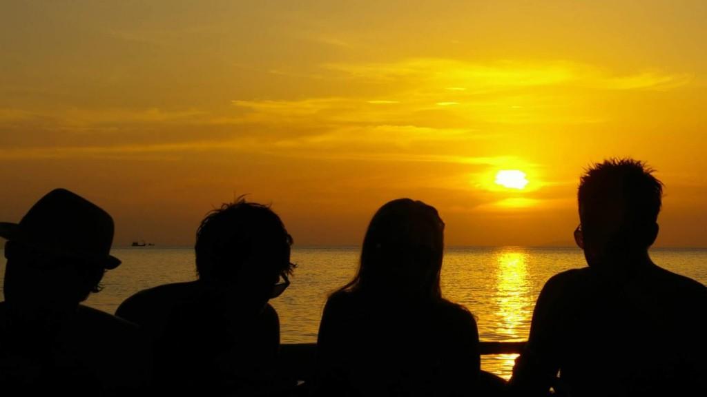 夕陽|夕焼け|ピピ島