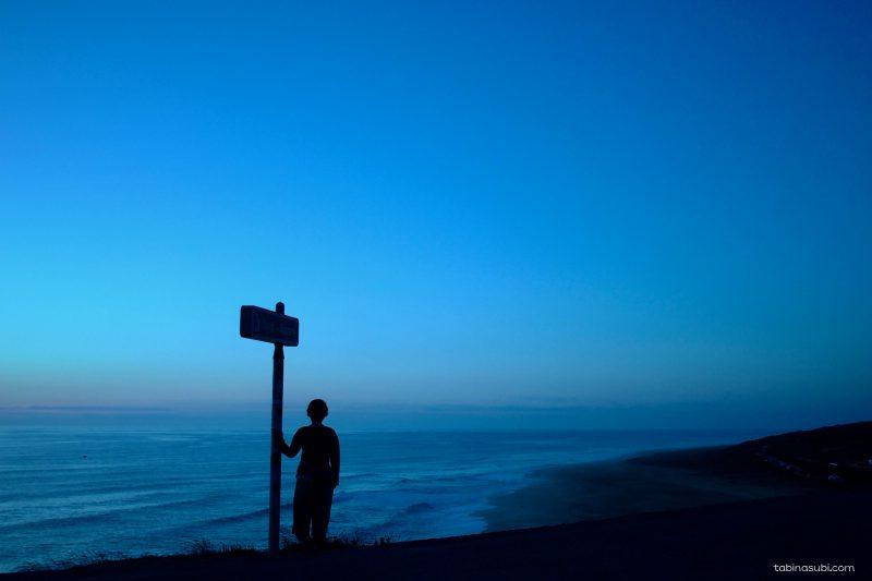 ナザレ|ビーチ|夕日