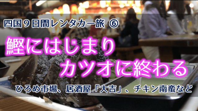 カツオ_ひろめ市場_チキン南蛮_煮込みラーメン_高知