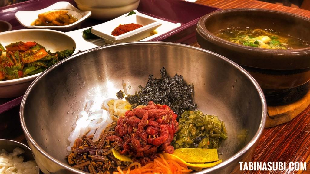 韓国料理|ユッケビビンバ|釜山グルメ|広安里
